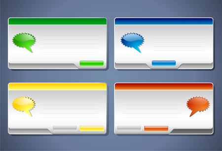 Message boxes Vector