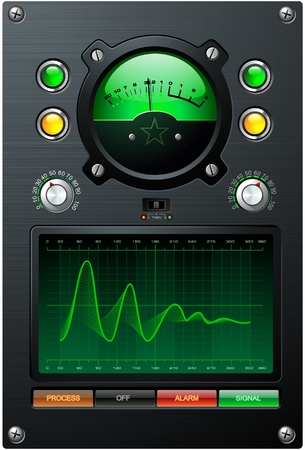 volume knob: Green Sine curve Illustration