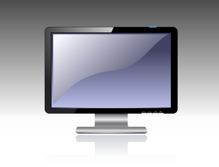 Computer LCD Monitor Stock Vector - 3438142