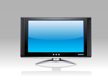 flick: Plasma LCD TV Illustration