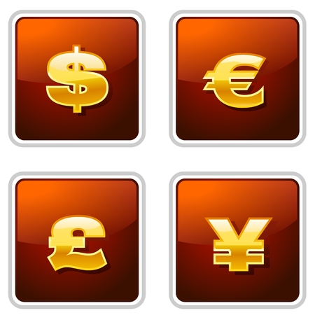 Golden Currency icons
