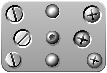 Rivets, Bolts and Screws Vector