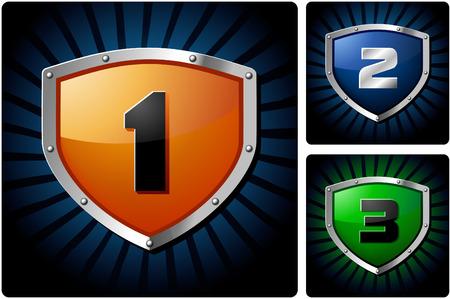 logo vector: Shields for design