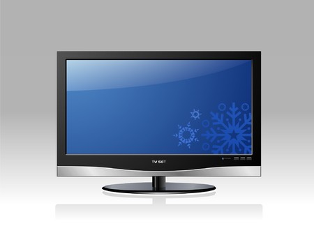 hdtv: Blue LCD TV