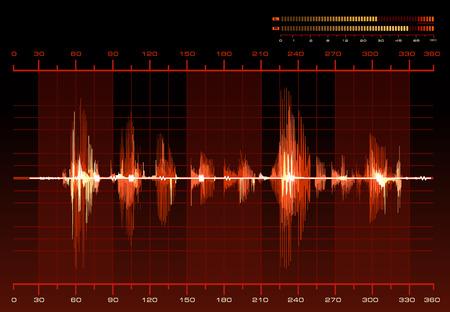 recording studio: Spraakherkenning Stock Illustratie
