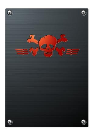 gravure: Skull Banner