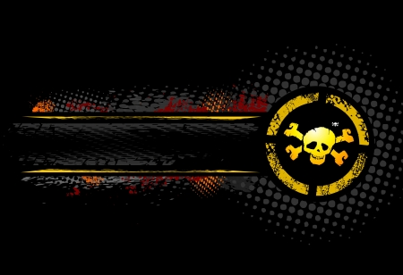 Black Skull Banner Stock Vector - 3519046