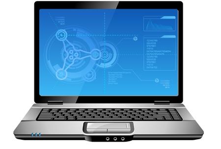 touchpad: Laptop Computer  Illustration