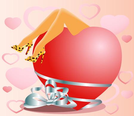 Valentine Card Stock Vector - 3521255