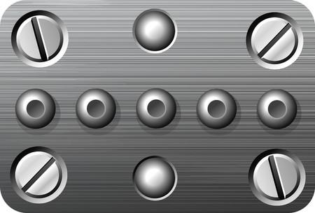 brushed aluminum: Tornillos Vectores