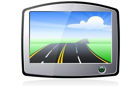Vector GPS Device Stock Vector - 3659707