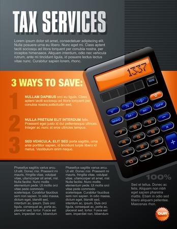 Calculator Brochure Vector