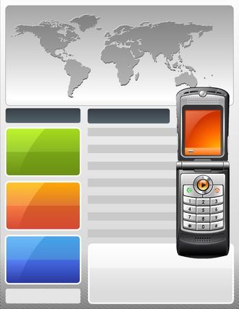 display type: Proveedor de telecomunicaciones Flyer Vectores