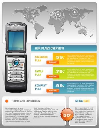 usługodawcy: Telekomunikacja Provider Brochure Ilustracja