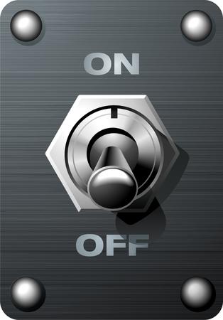 Toggle Switch  Vector Illustratie
