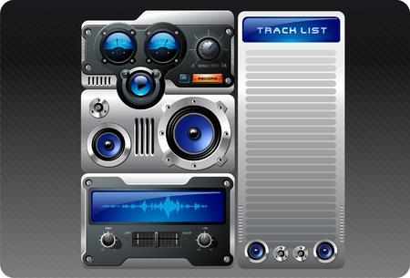 MP3 Analog Player Vector
