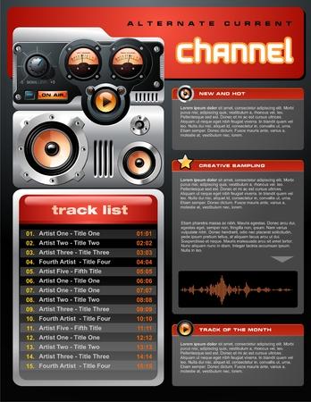 Red analogique MP3 Player Brochure Banque d'images - 4034383