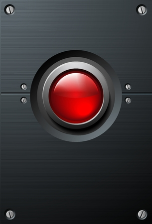 Big Red Button  Vector
