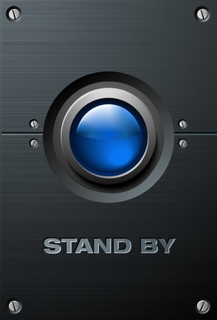 Big Blue Button Vector