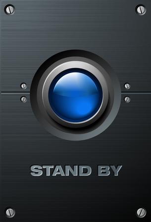 Big Blue Button 向量圖像