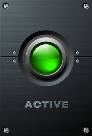 Big Green Button Vector