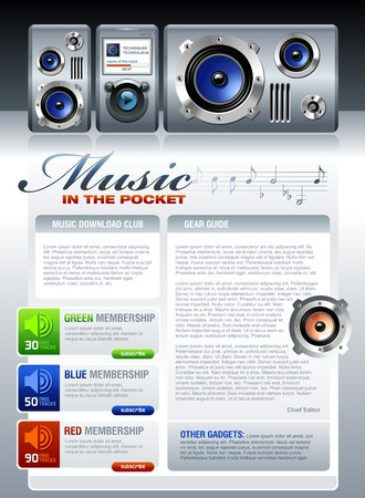 portable audio: Music Brochure