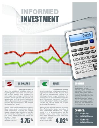 profit and loss: Brochure finanziario per gli investimenti