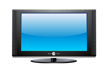 Plasma TV Illustration