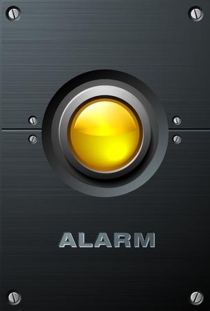 Big Yellow Button Stock Vector - 4161055