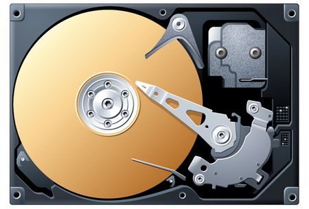 Bronze Hard Disk Drive Stock Photo - 4208524