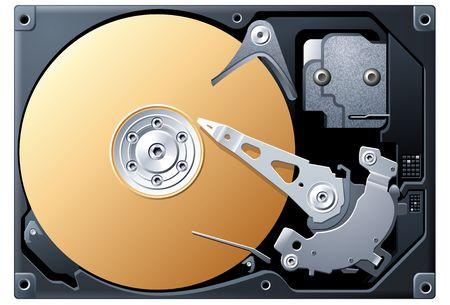 hard: Bronze Hard Disk Drive