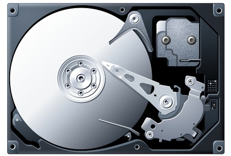 memory drive: Hard Disk Illustration