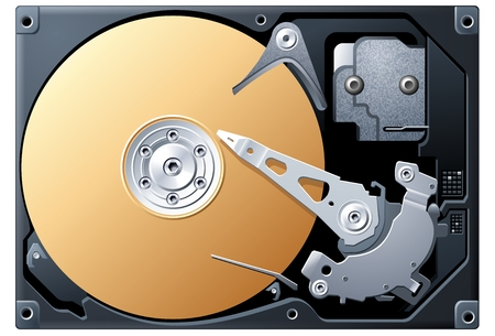 drives: Hard Disk Illustration