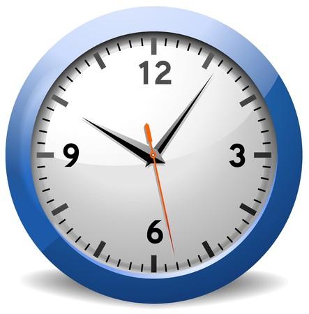 office clock: Reloj cl�sico Oficina Vectores