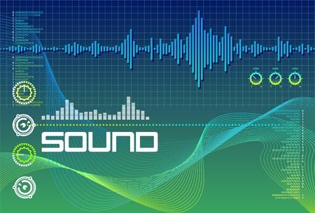 recording studio: Sound Lab Seagreen Stock Illustratie