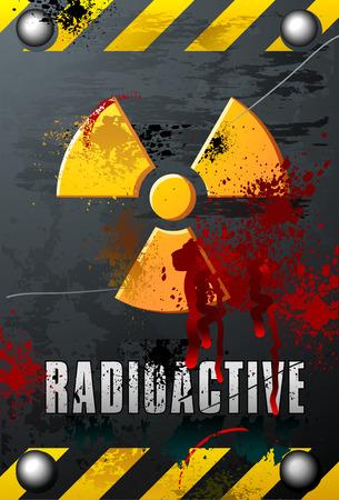 radioactive sign: Radioactivity Plate