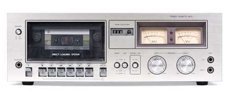 A photograph of a cassette player. photo