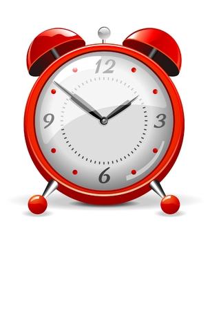 despertador: Reloj de alarma roja
