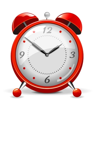 Rood alarm klok