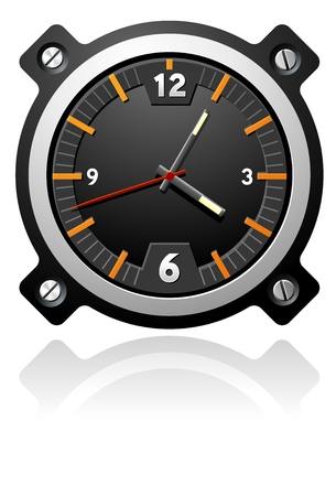 Watch with black dial Vector