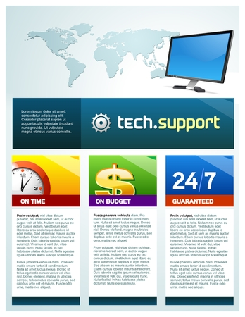 web template: Techsupport brochure