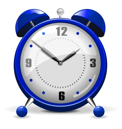 Blue Alarm Clock Vector