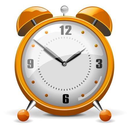 wall clock: Orange Alarm Clock