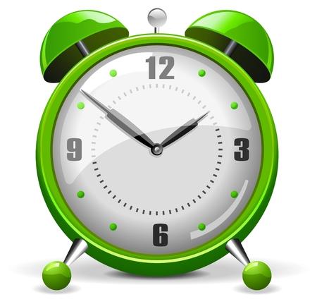 녹색 알람 시계