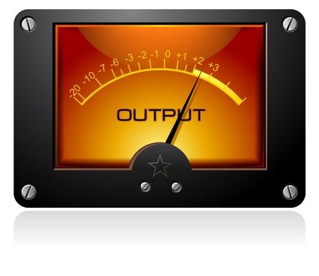 decibel: Orange Electric Signal meter
