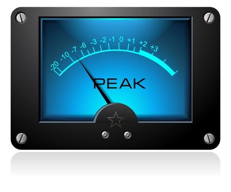 decibel: Blue Analog Singal Meter Illustration