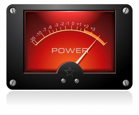 Red Analog Signal Meter Vector