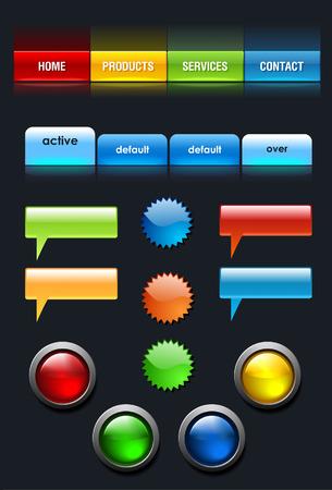 Web User Interface elements set