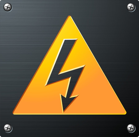 high: High Voltage Sign Illustration