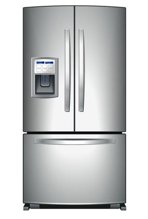 Refrigerador con o  Ilustración de vector